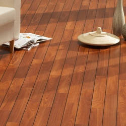 Solid parquet in mahogany wood